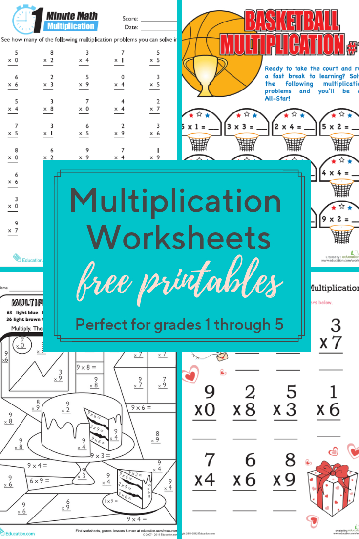 Multiplication Worksheets And Printables | These with Multiplication Worksheets Education.com