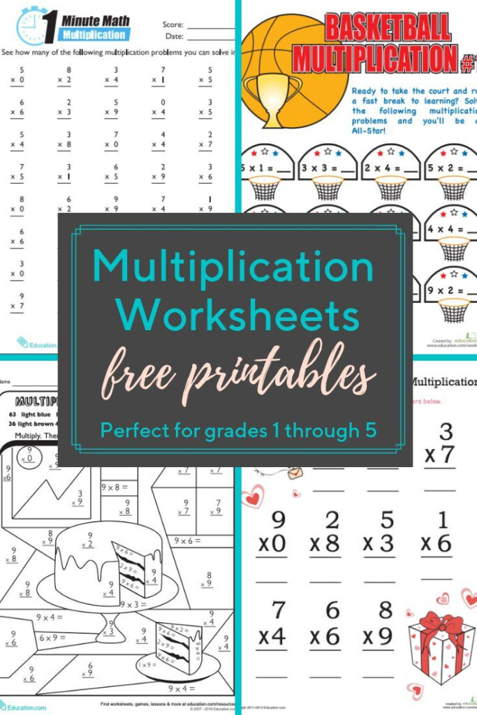 Multiplication Worksheets And Printables | These Within Multiplication Worksheets Education.com