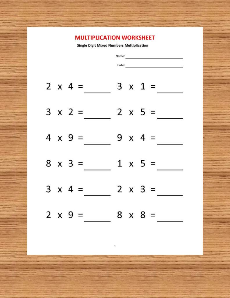 Multiplication Worksheets, Printable Worksheets In Multiplication Worksheets Year 4 Pdf