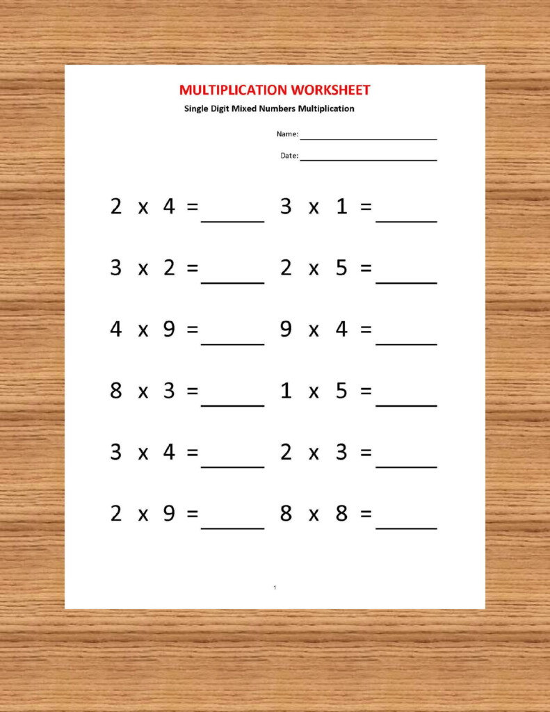 Multiplication Worksheets, Printable Worksheets Regarding Multiplication Worksheets Year 2