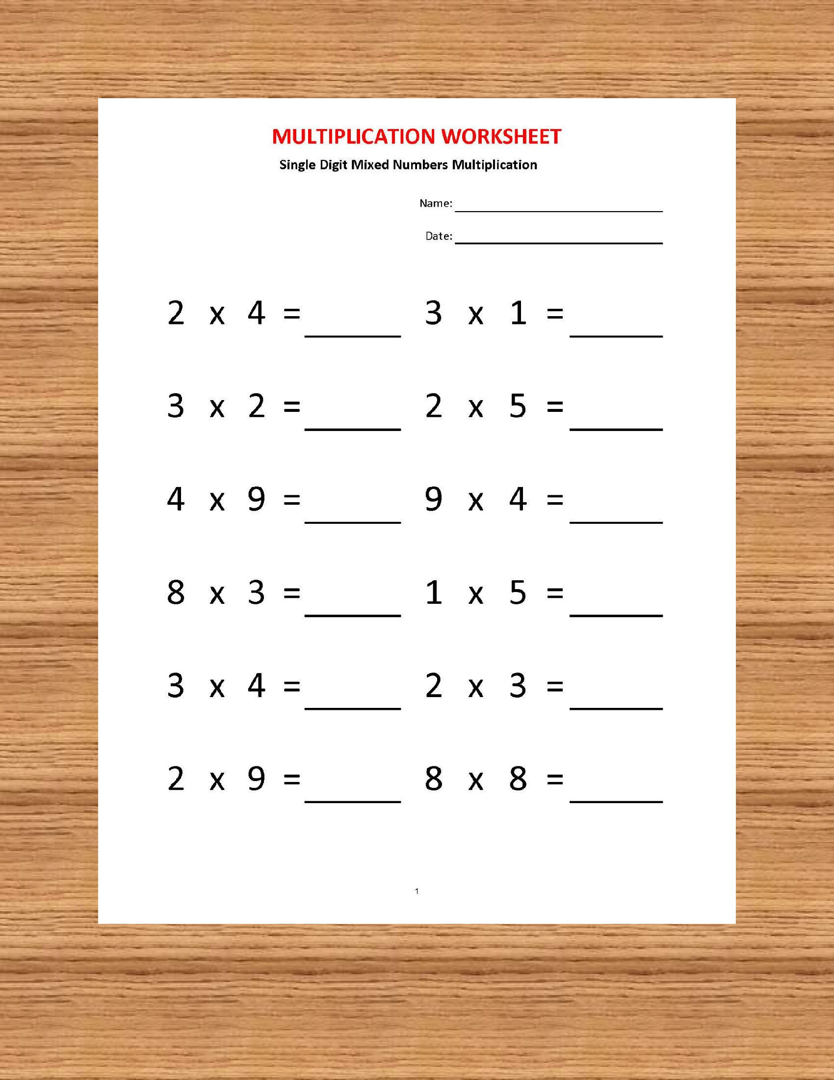Multiplication Worksheets, Printable Worksheets with Worksheets On Multiplication For Grade 2