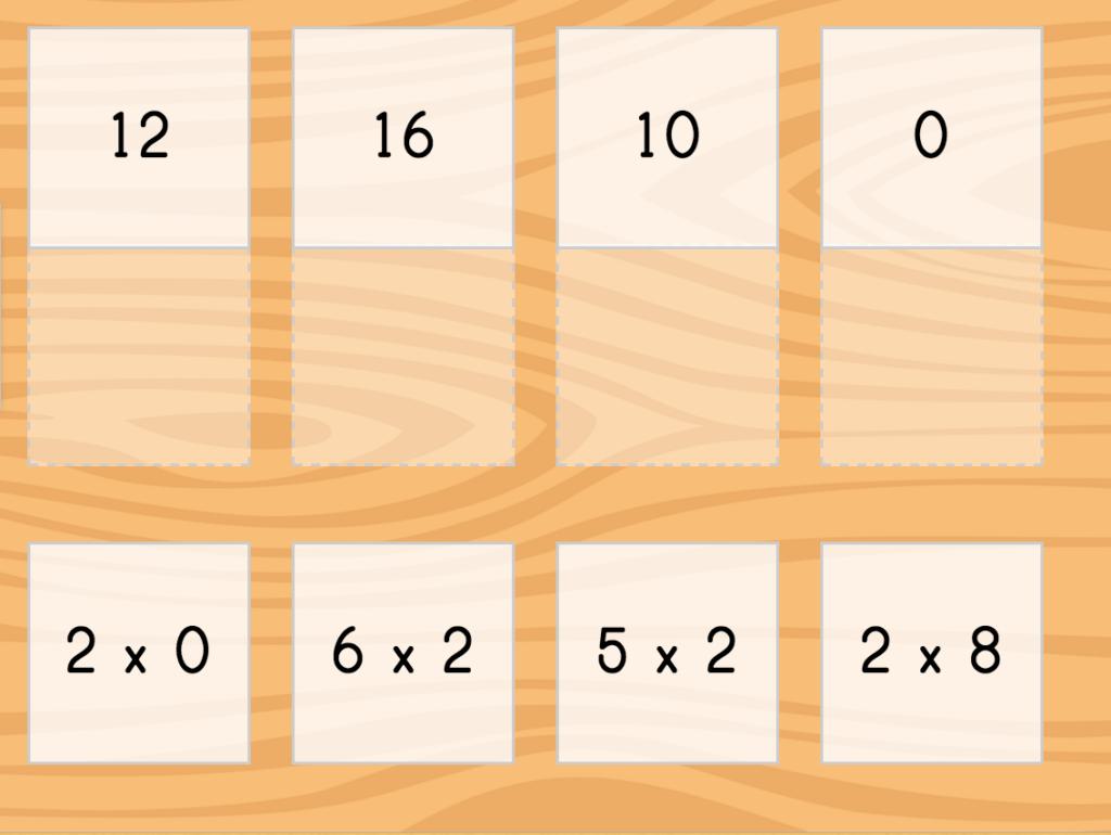 Multiply2 Matching | Game | Education Regarding Printable Multiplication Strategy Mat
