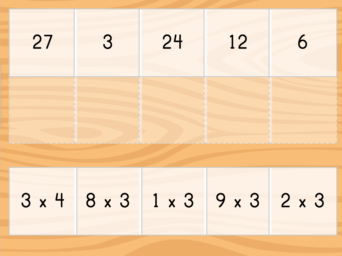 Multiply3 Matching | Game | Education with Printable Multiplication Matching Game