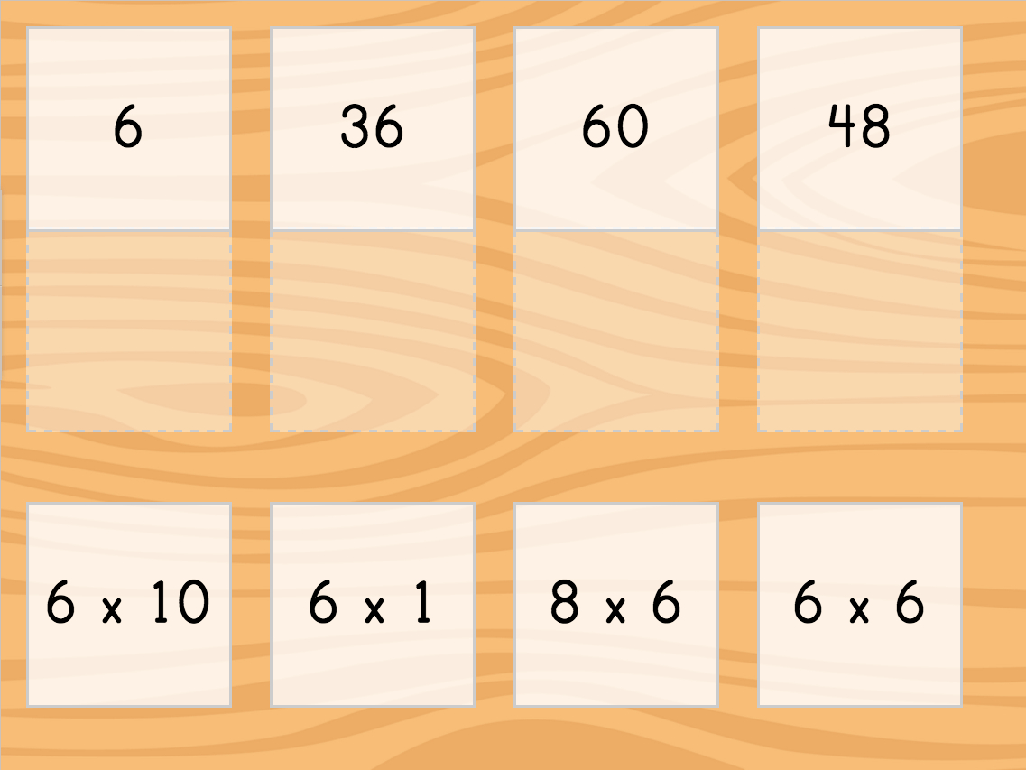 Multiply6: Matching | Game | Education for Multiplication Worksheets Education.com