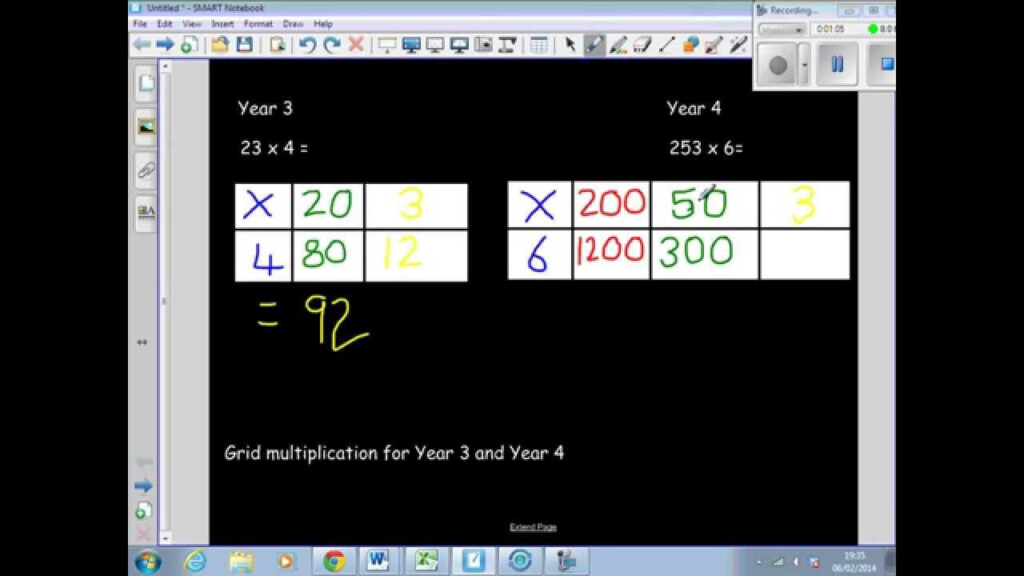 Multiplying Decimals Grid Method Worksheet & 2 Digit2 Within Multiplication Worksheets Htu X U