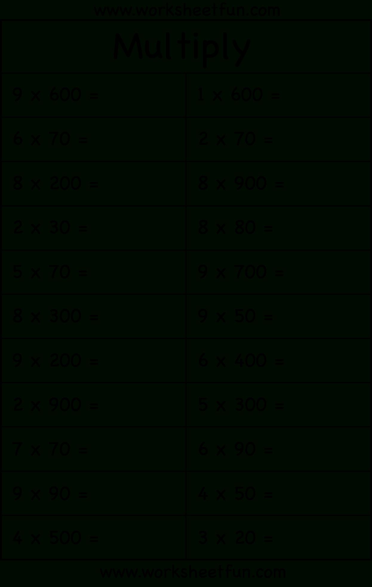 Multiplyingmultiples Of 10 Worksheet & Common Worksheets regarding Multiplication Worksheets Multiples Of 10