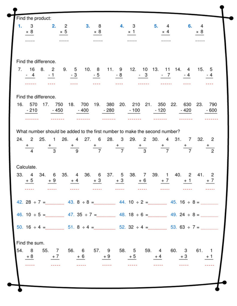Ninalazina   Addition Subtraction Multiplication Division Within Worksheets Multiplication And Division