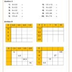 Number Worksheets Mental Methods Ks3 And Ks4 | Fun Math Pertaining To Multiplication Worksheets Ks4