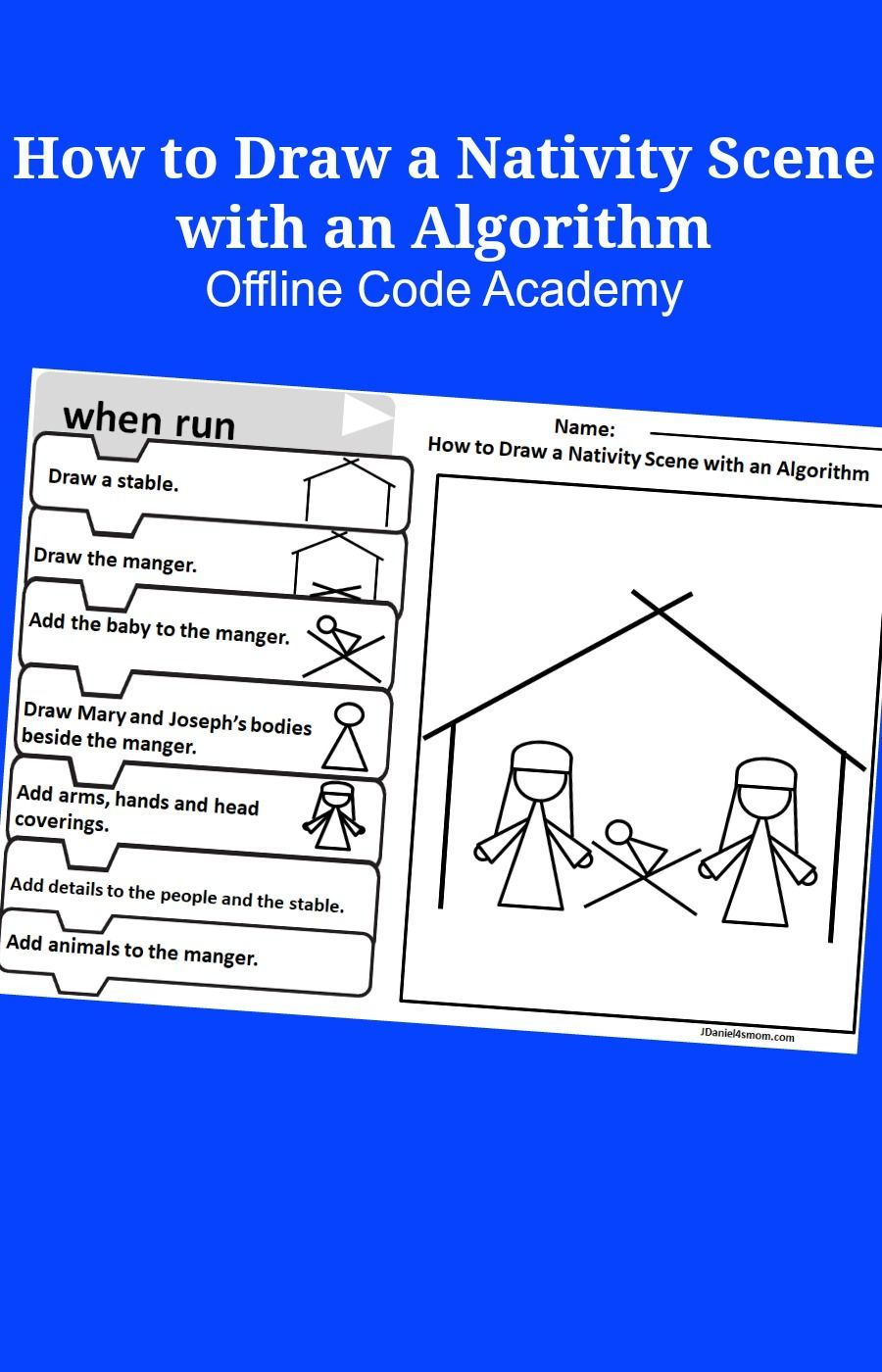 Offline Coding Academy- How To Draw A Nativity Scene With An regarding Multiplication Worksheets Rudolph Academy