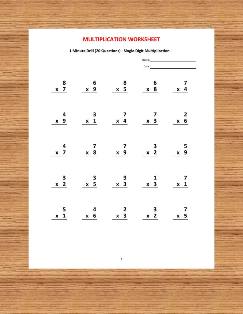 Pin On Kids For Multiplication Worksheets Year 2 Pdf