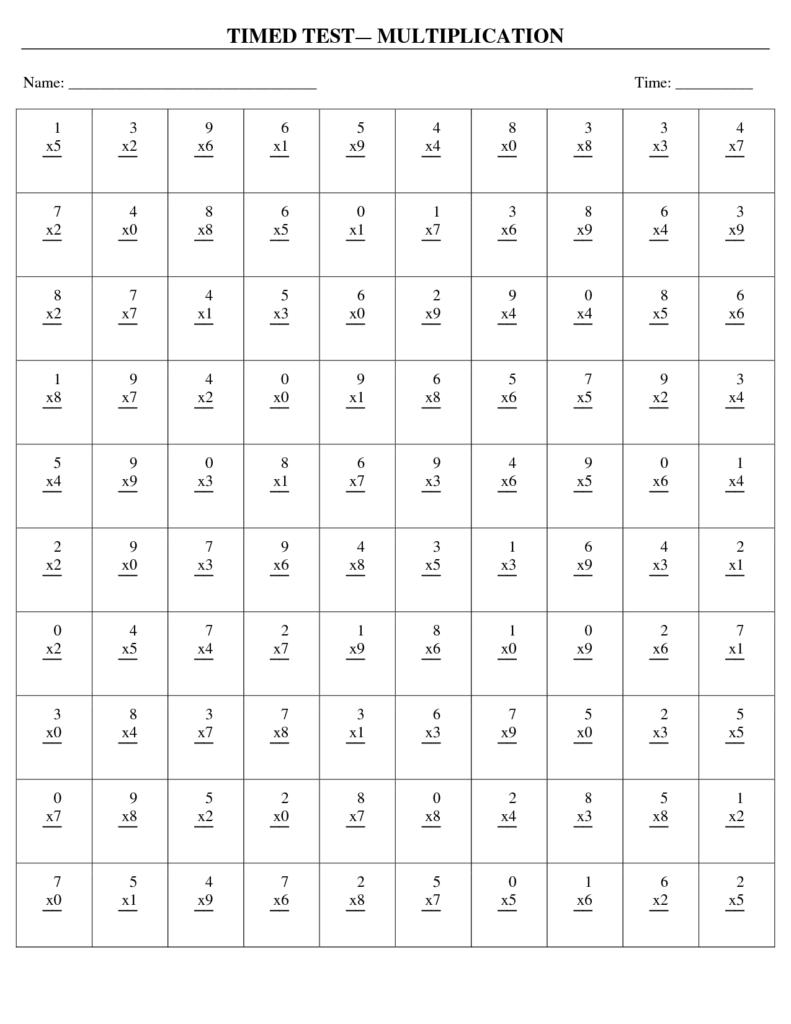 Pin On Matematyka Throughout Printable Multiplication Quiz