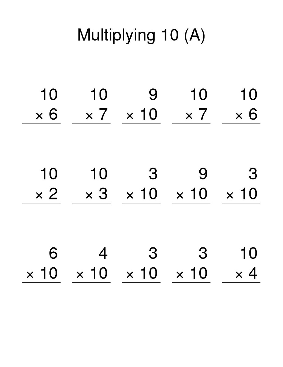 Printable 10 Times Table Worksheets | Activity Shelter intended for Printable Multiplication Table Worksheets