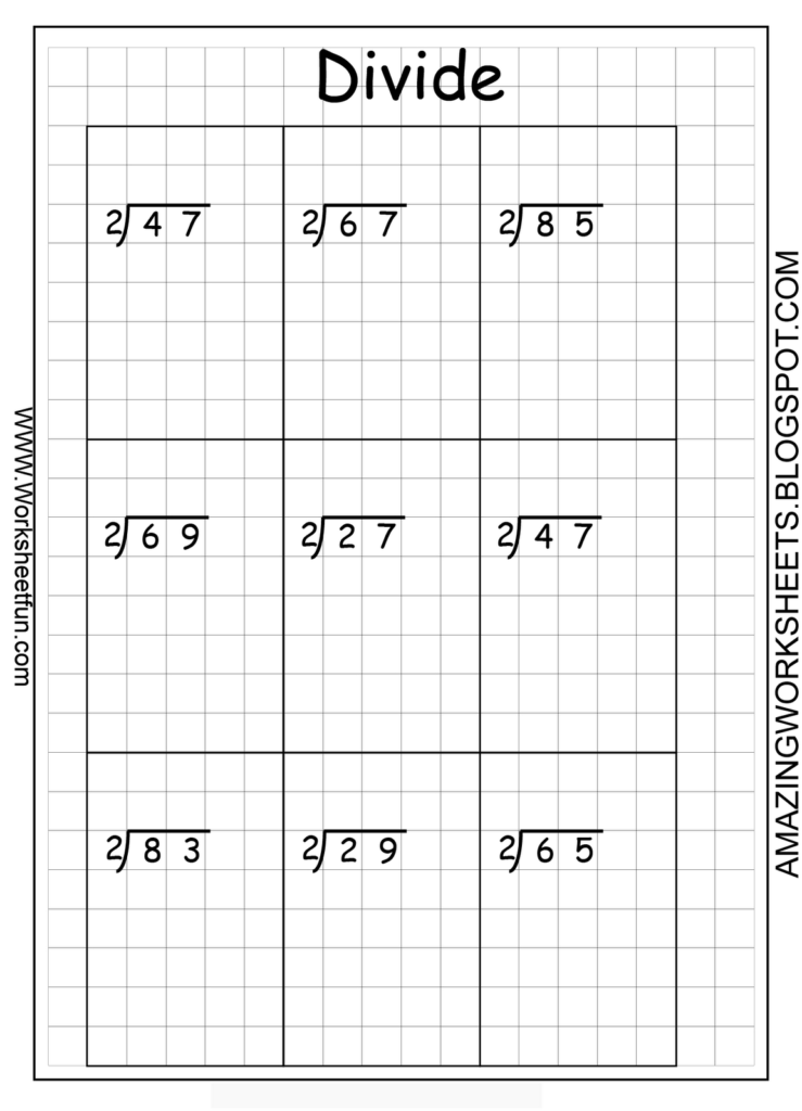 Printable Long Division Questions On Graph Paper | Long With Regard To Multiplication Worksheets On Graph Paper