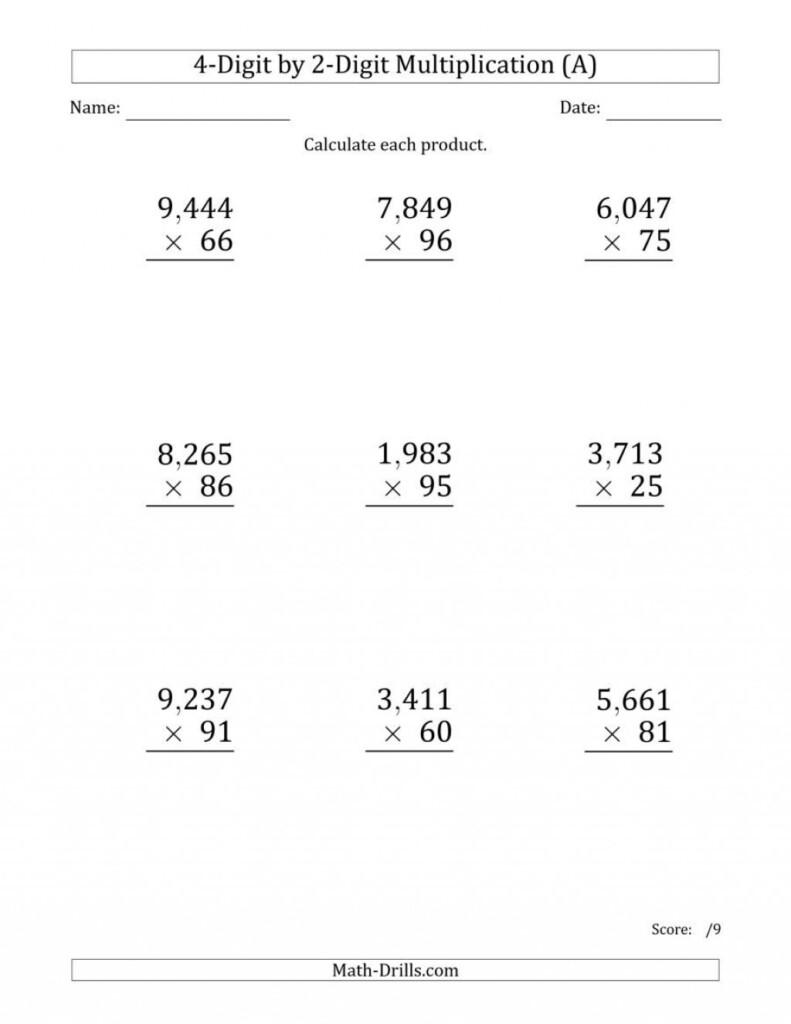 Printable Math Worksheet Year 2 Uk | Printable Worksheets For Multiplication Worksheets 4 Digits By 2