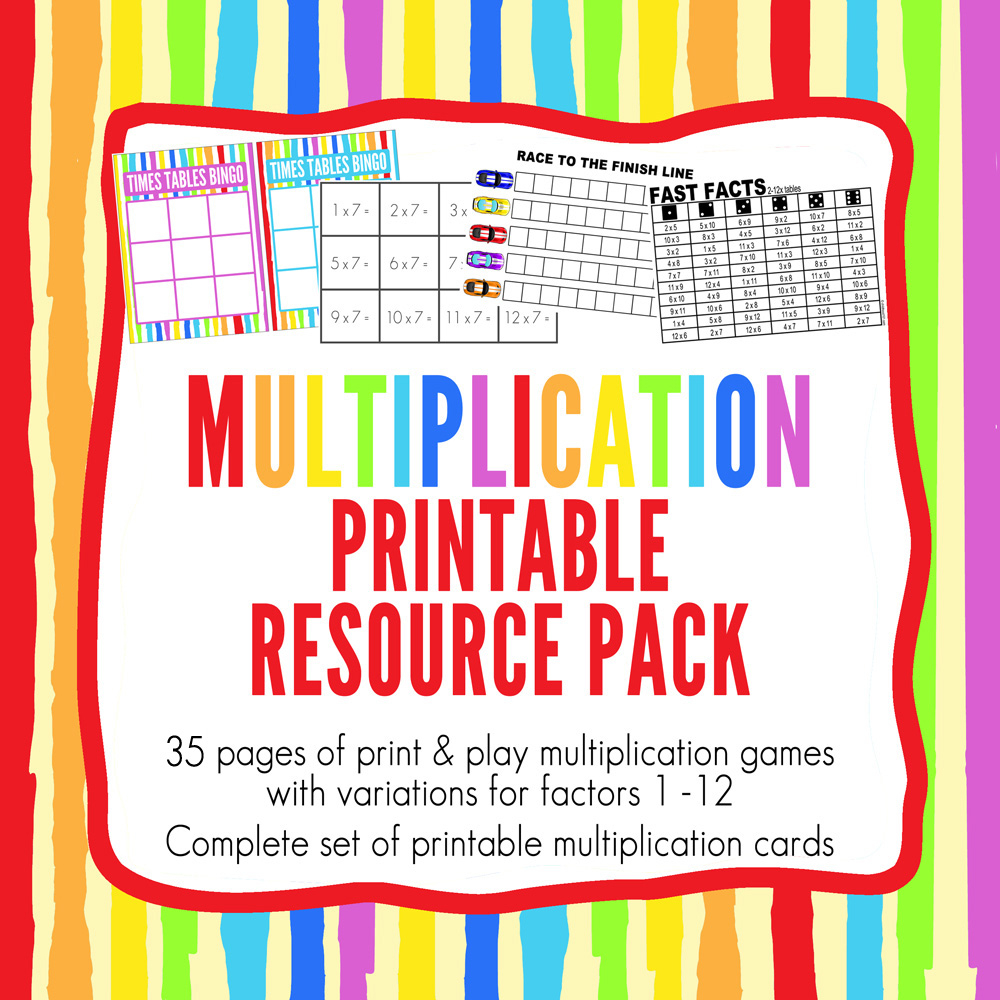 Printable Times Tables Games Pack intended for Printable Multiplication Games