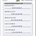 Roman Numeral Ordering (Random) With Regard To Multiplication Worksheets Random Order