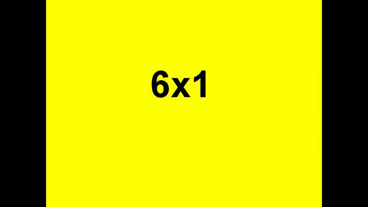 Sixes Multiplication Video Flashcards At Rudolph Academy - pertaining to Multiplication Worksheets Rudolph Academy