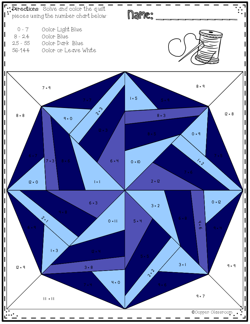 Snowflake Quilts Colorcode For Multiplication Facts Up with regard to Multiplication Worksheets Up To 12X12