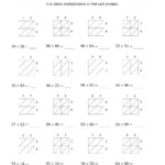 The 2 Digit2 Digit Lattice Multiplication (A) Math Intended For Printable Lattice Multiplication Worksheets