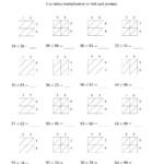 The 2 Digit2 Digit Lattice Multiplication (A) Math Intended For Printable Lattice Multiplication Worksheets
