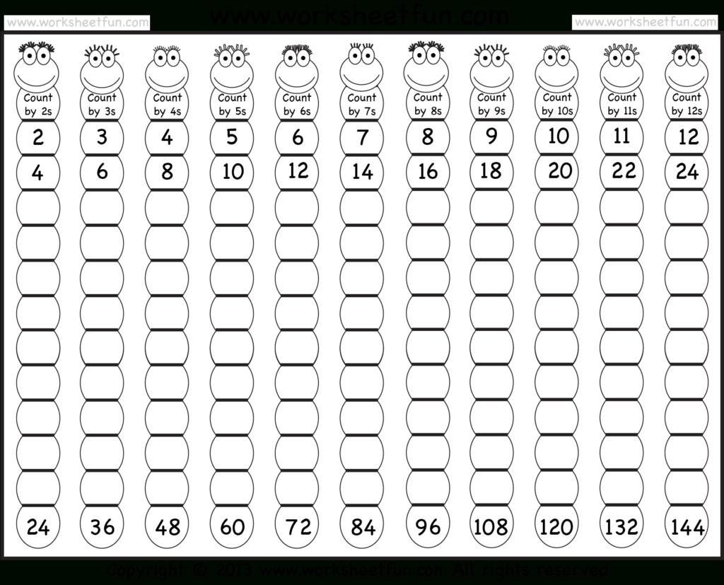 Times Table – 2 12 Worksheets – 1, 2, 3, 4, 5, 6, 7, 8, 9 Inside Multiplication Worksheets Numbers 1 12