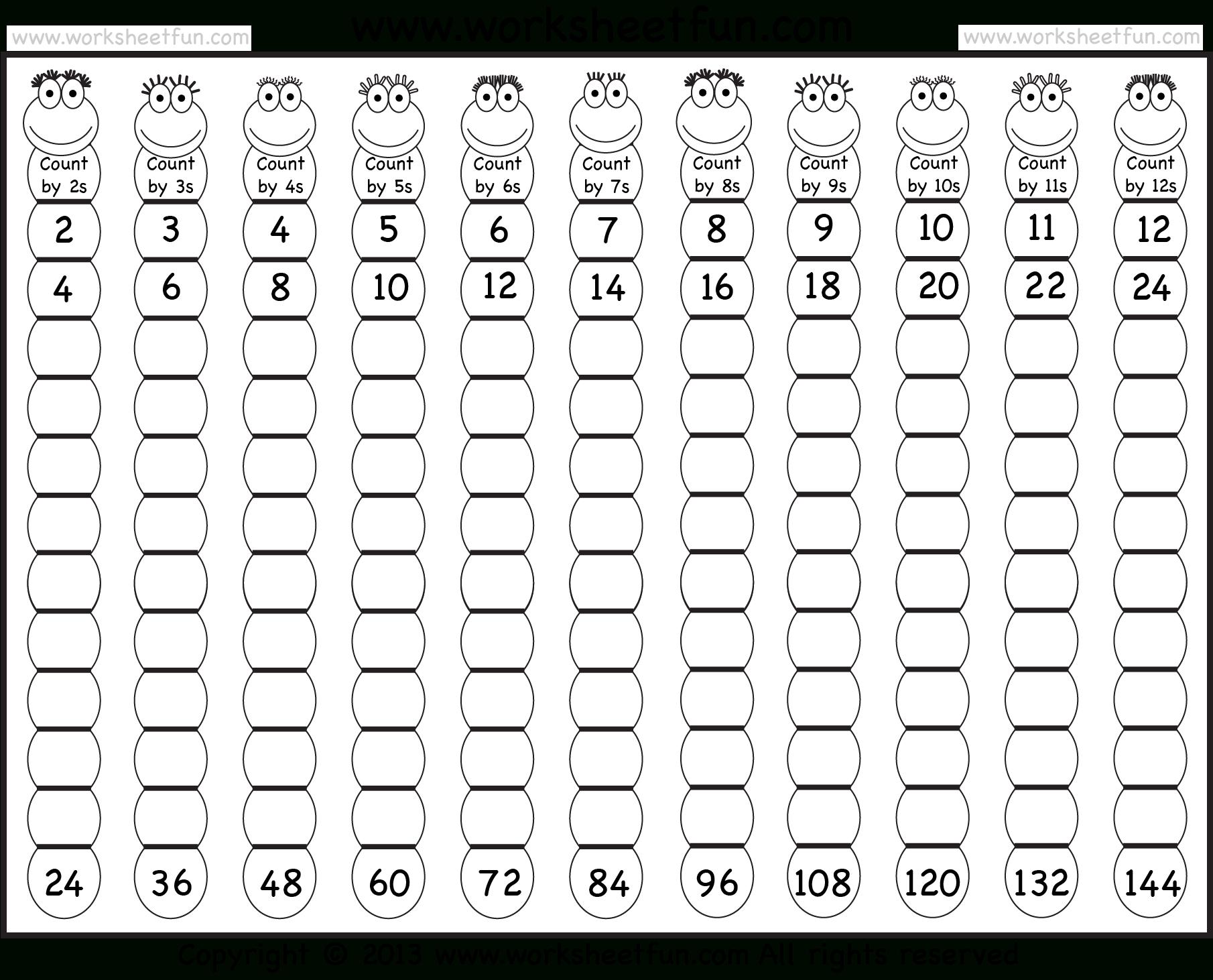 Times Table – 2-12 Worksheets – 1, 2, 3, 4, 5, 6, 7, 8, 9 inside Multiplication Worksheets Numbers 1-12