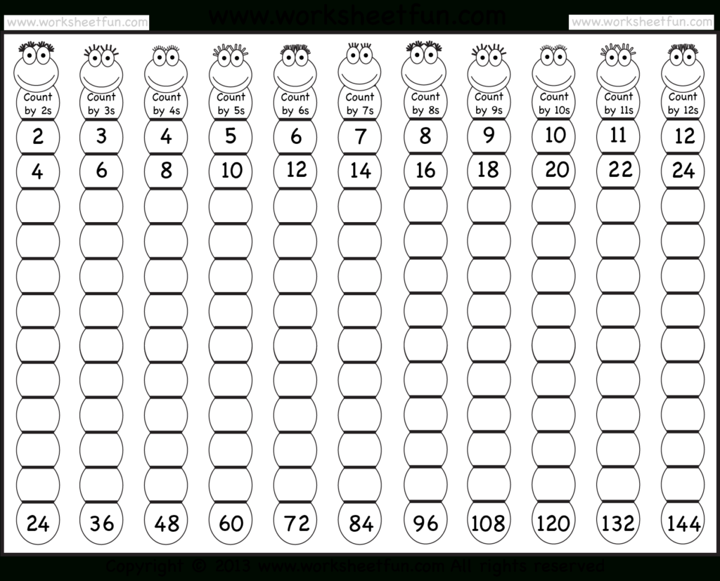 Times Table – 2 12 Worksheets – 1, 2, 3, 4, 5, 6, 7, 8, 9 Inside Printable Multiplication Table 1 12 Pdf