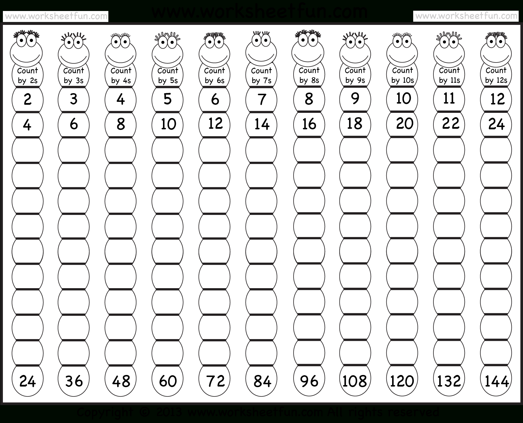 Times Table – 2-12 Worksheets – 1, 2, 3, 4, 5, 6, 7, 8, 9 inside Printable Multiplication Table 1-12 Pdf