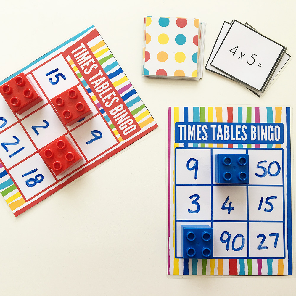 Times Table Bingo For Learning Multiplication. Free Printable. in Printable Multiplication Bingo Game