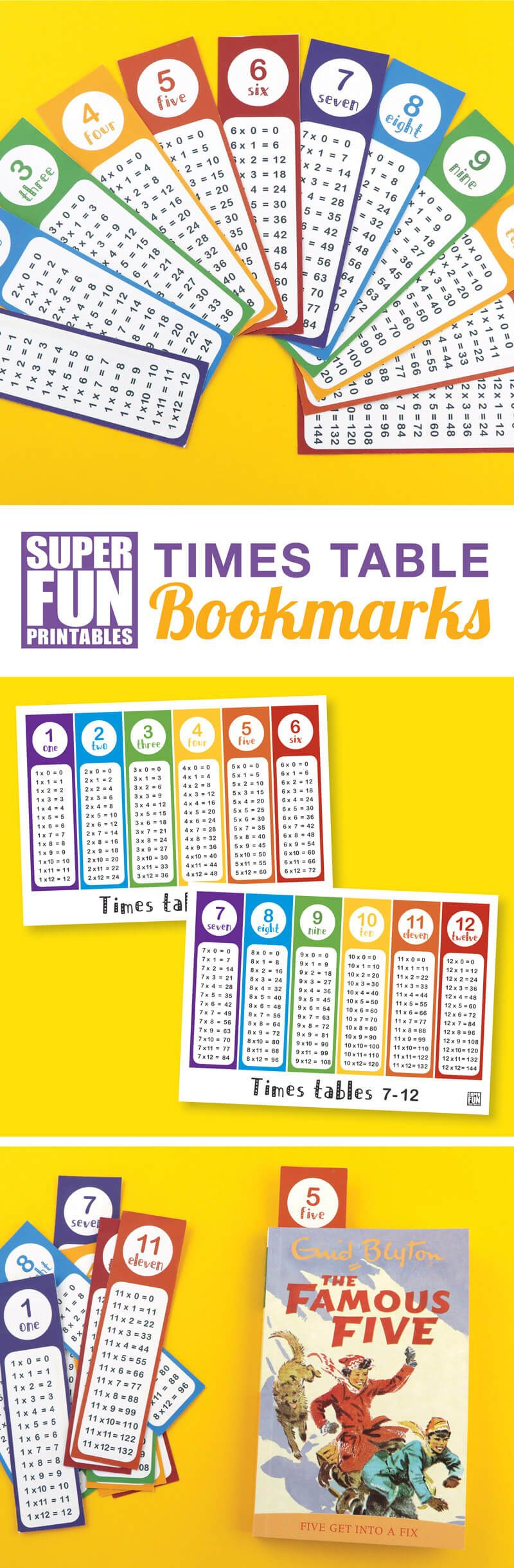 Times Table Bookmarks | Math Tables, Times Tables regarding Printable Multiplication Bookmarks
