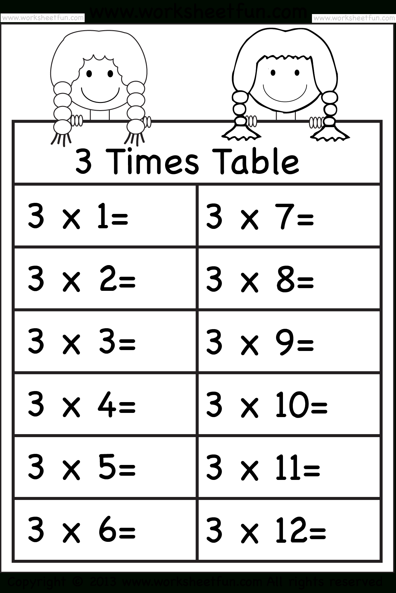 Times Tables Worksheets – 2, 3, 4, 5, 6, 7, 8, 9, 10, 11 And for Multiplication Worksheets 5 6 7