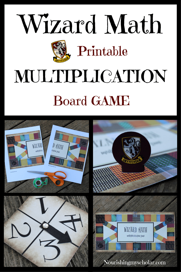 Wizard Math Printable Multiplication Board Game ~ Nourishing for Printable Multiplication Board Games For 3Rd Grade