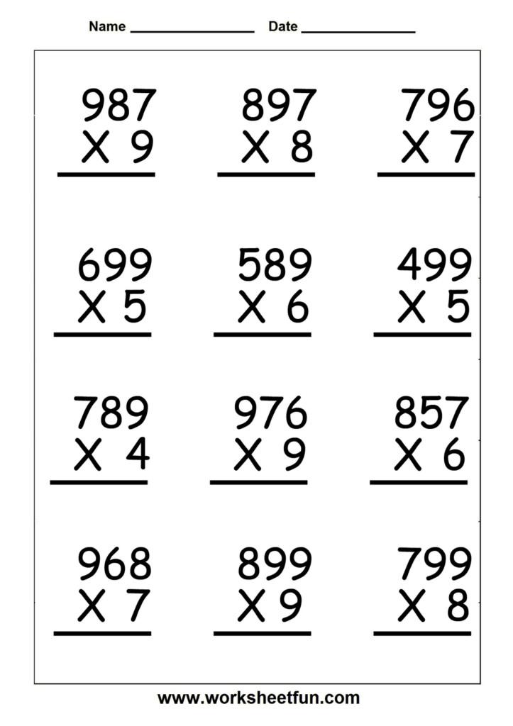 Worksheet Ideas ~ Multiplication Worksheets Grade And Inside Multiplication Worksheets Ks2 Year 4
