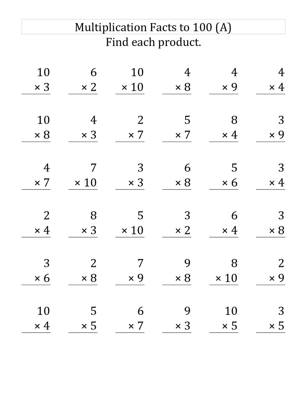 Worksheet Ideas ~ Phenomenal Multiplication Worksheets within Worksheets Multiplication 3Rd Grade