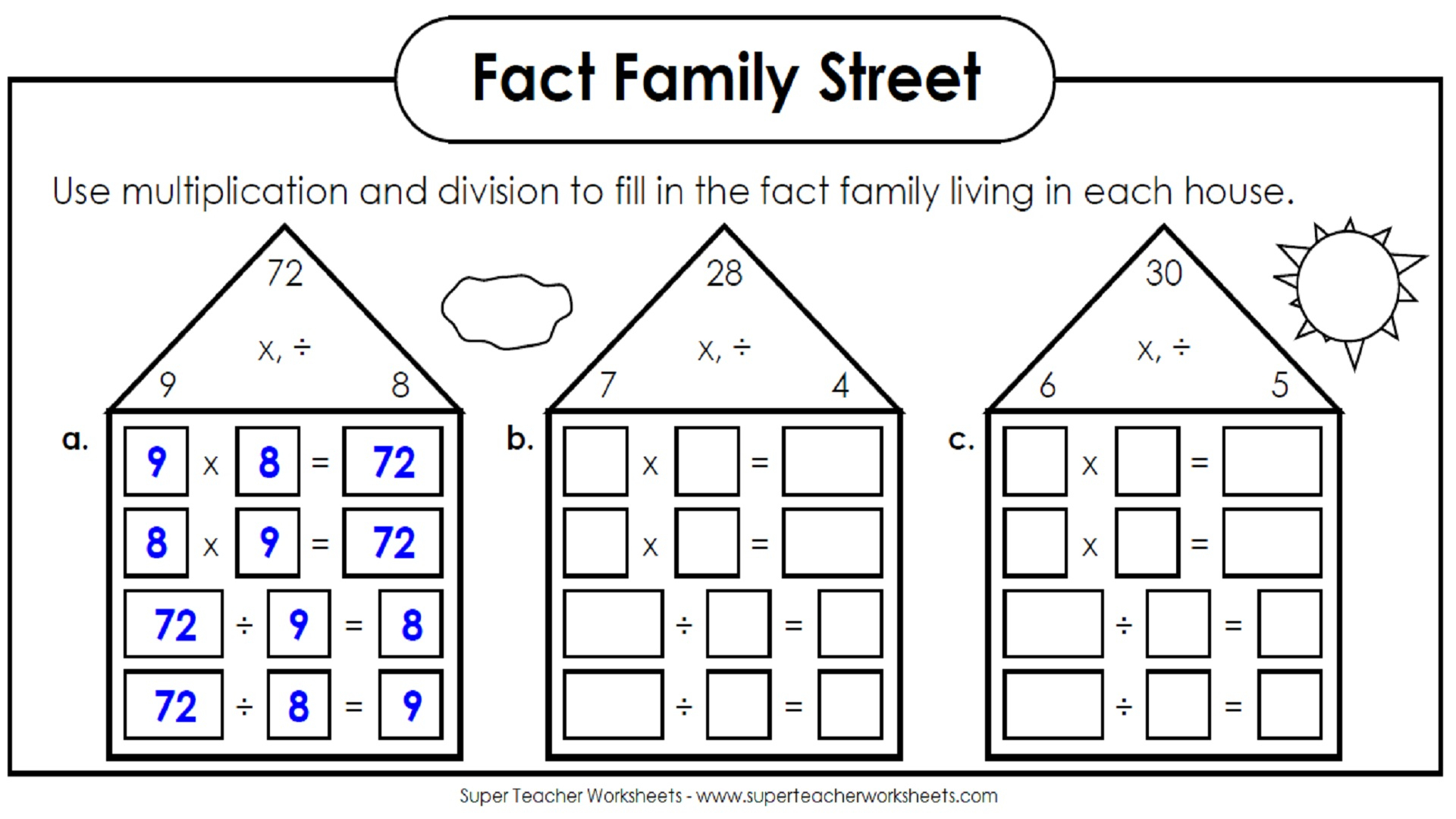 Worksheet Ideas ~ Worksheet Ideas Incredibleon And Division throughout Worksheets Relating Multiplication And Division