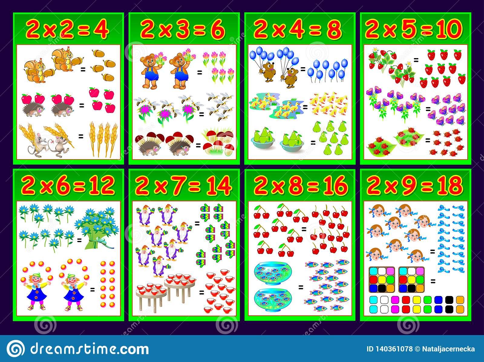 Worksheet Multiplication 2 Xs | Printable Worksheets And within Printable Multiplication Poster