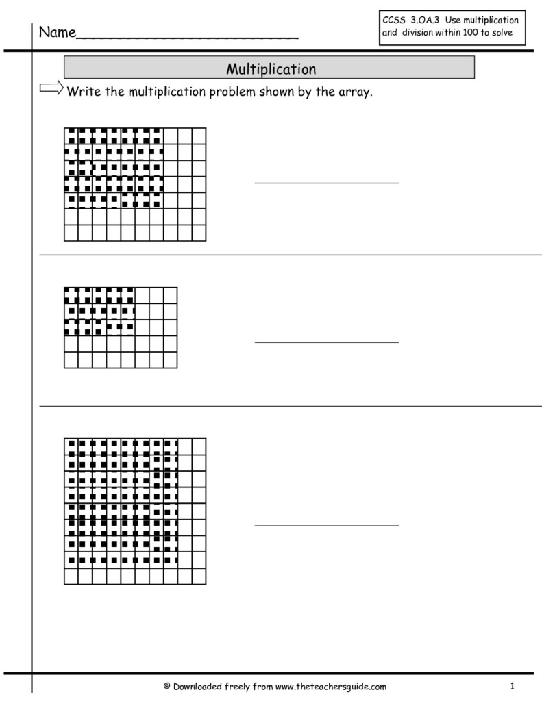 Worksheet Simple Multiplication Using Array | Printable Intended For Worksheets Multiplication Arrays