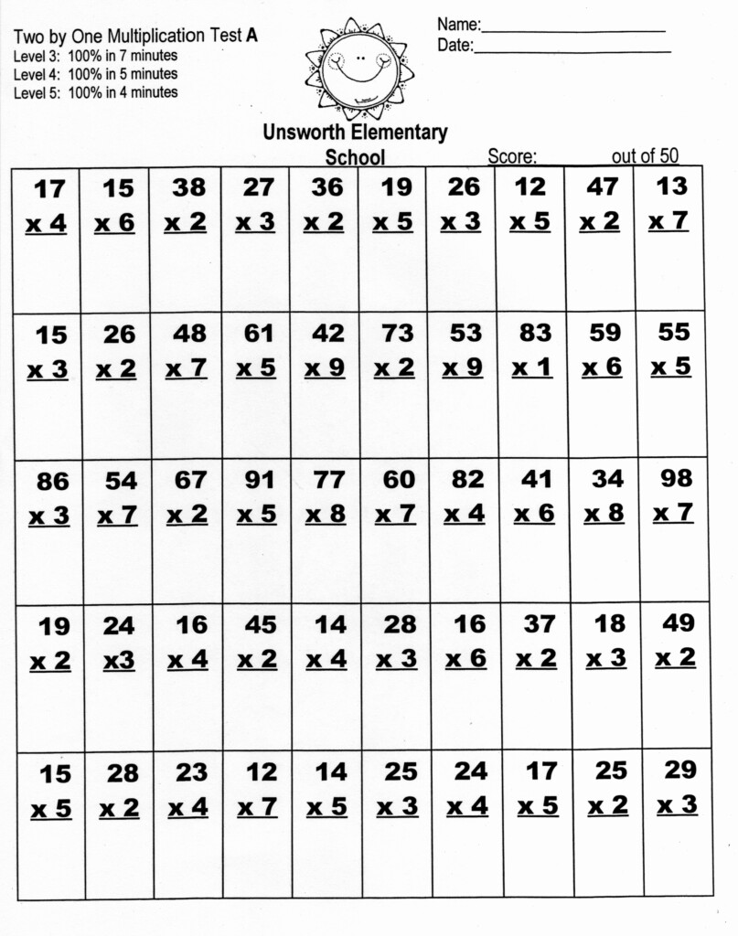 X7 Printable Math Worksheet | Printable Worksheets And For Multiplication Worksheets X7