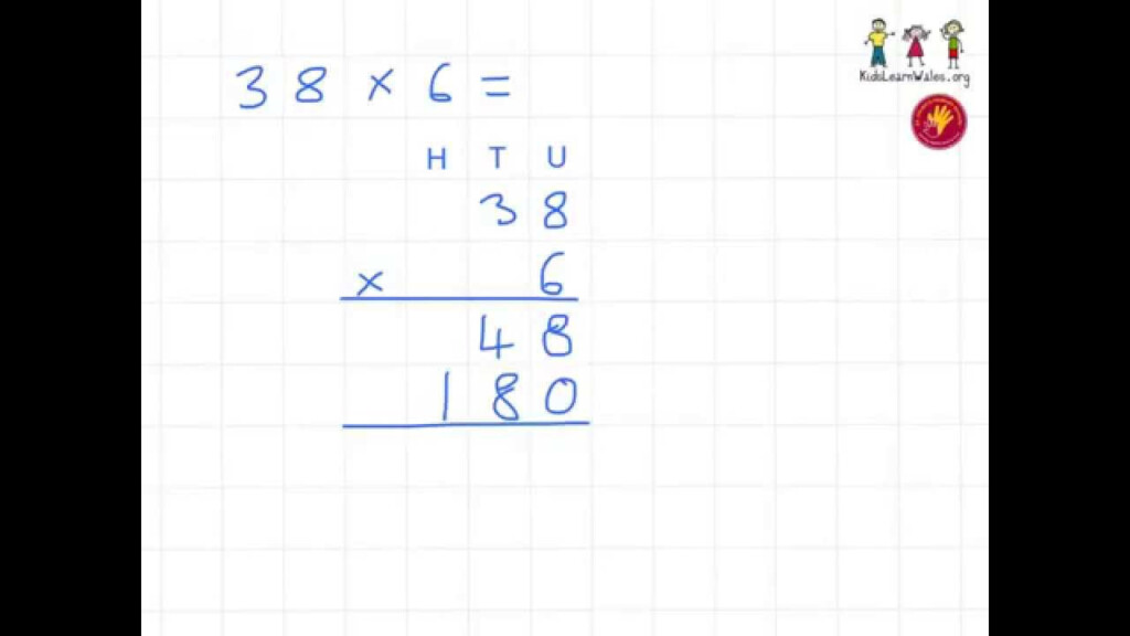 Year 4 Multiplication Tu X U Expanded Eg 3   Youtube Inside Multiplication Worksheets Htu X U