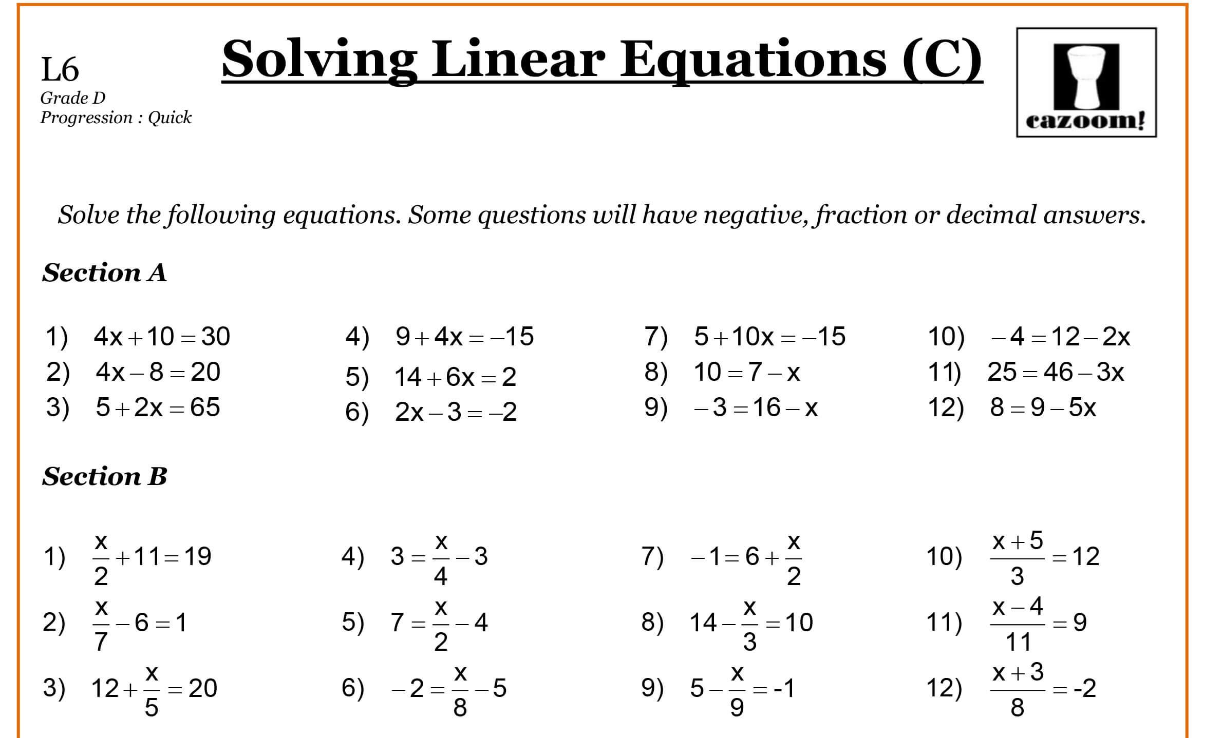 Year 9 Maths Worksheets | Printable Maths Worksheets for Printable Multiplication Worksheets Grade 9