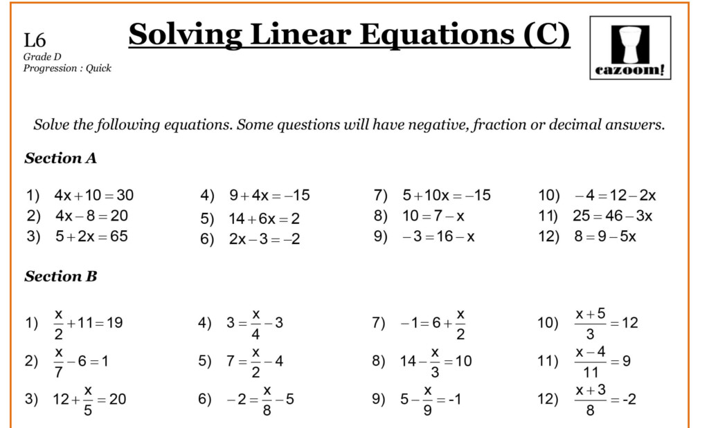 Year 9 Maths Worksheets | Printable Maths Worksheets Intended For Multiplication Worksheets Year 9