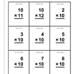 10 Times Table Worksheets | Printable Flash Cards, Math
