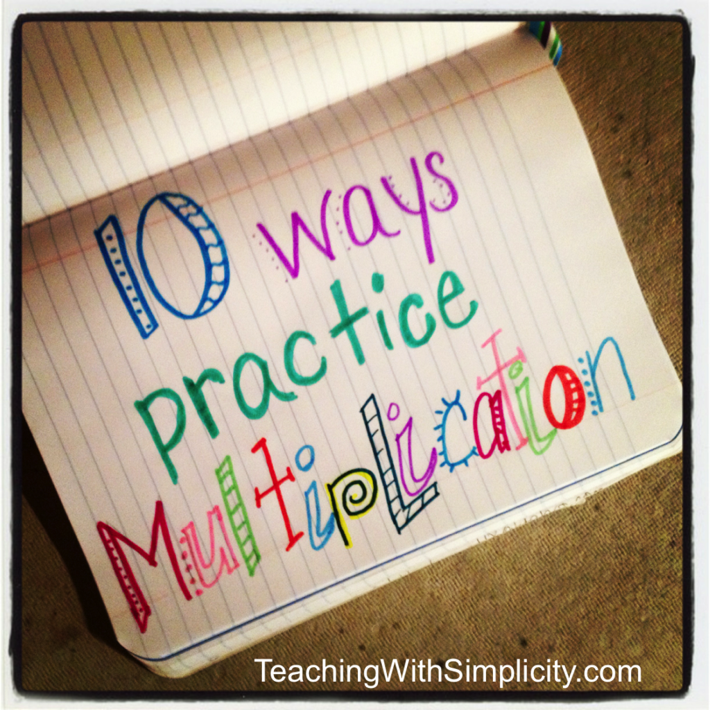 10 Ways To Practice Multiplication Facts | Education Math
