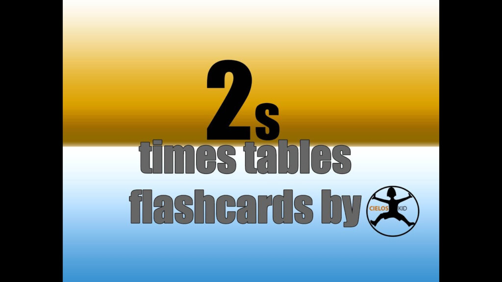 2's Times Tables Flashcards I Multiplication Facts Game