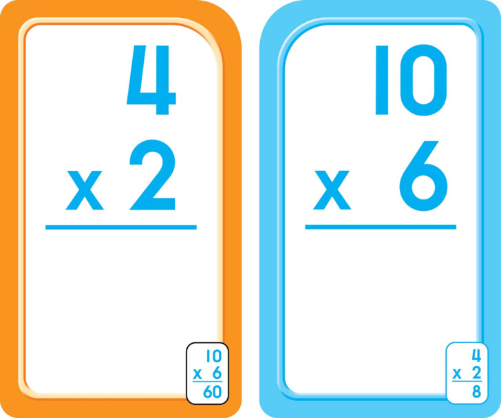 Multiplication Flash Cards Third Grade