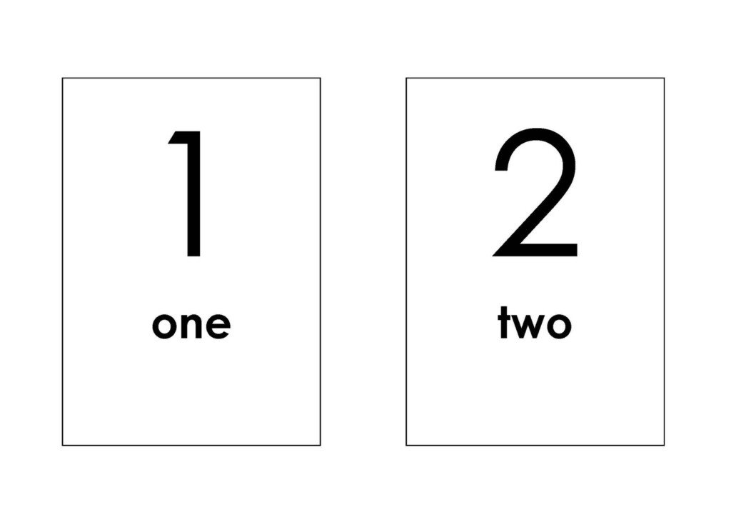 5 Best Images Of Free Printable Number Flash Cards   Free