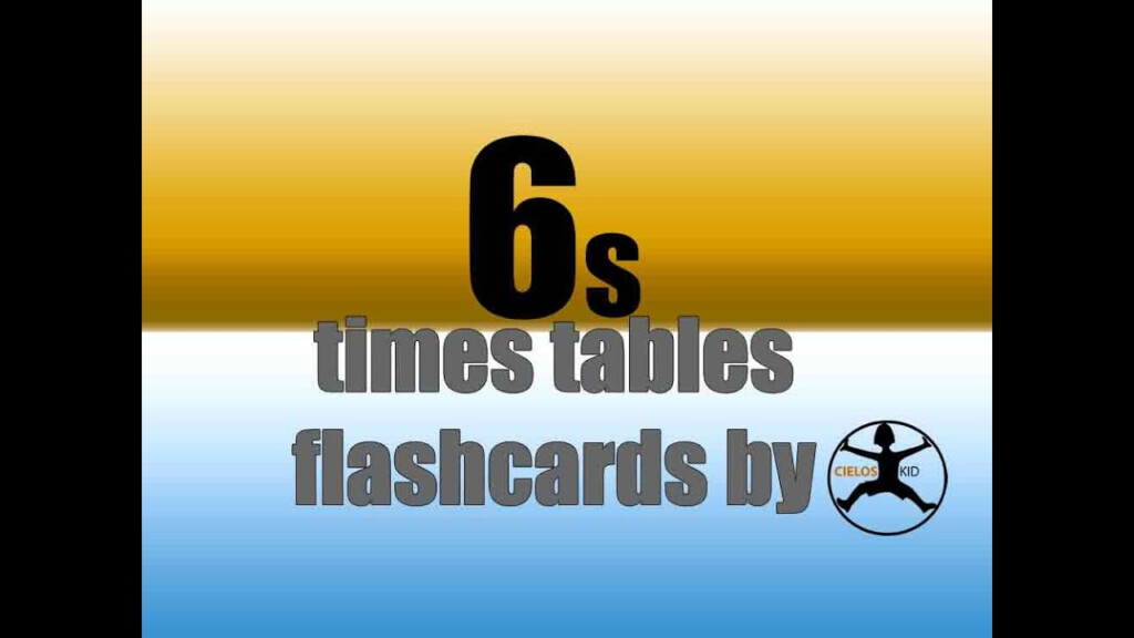 6's Times Tables Flashcards I Multiplication Facts Game