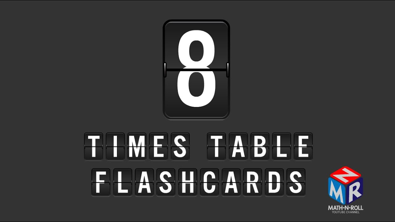 8 Times Table Flashcards