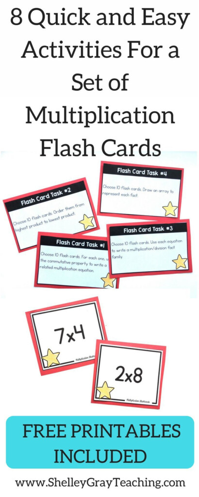 8 Ways To Use Multiplication Flashcards In Your Classroom