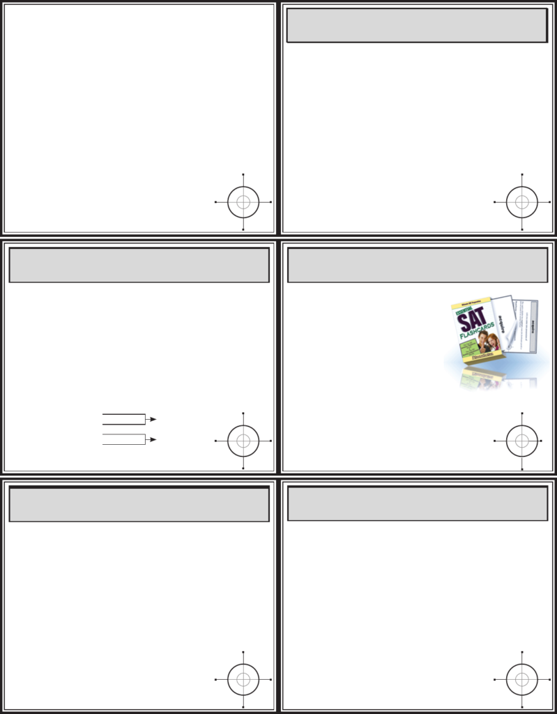 Act Math Flash Cards   [Pdf Document]